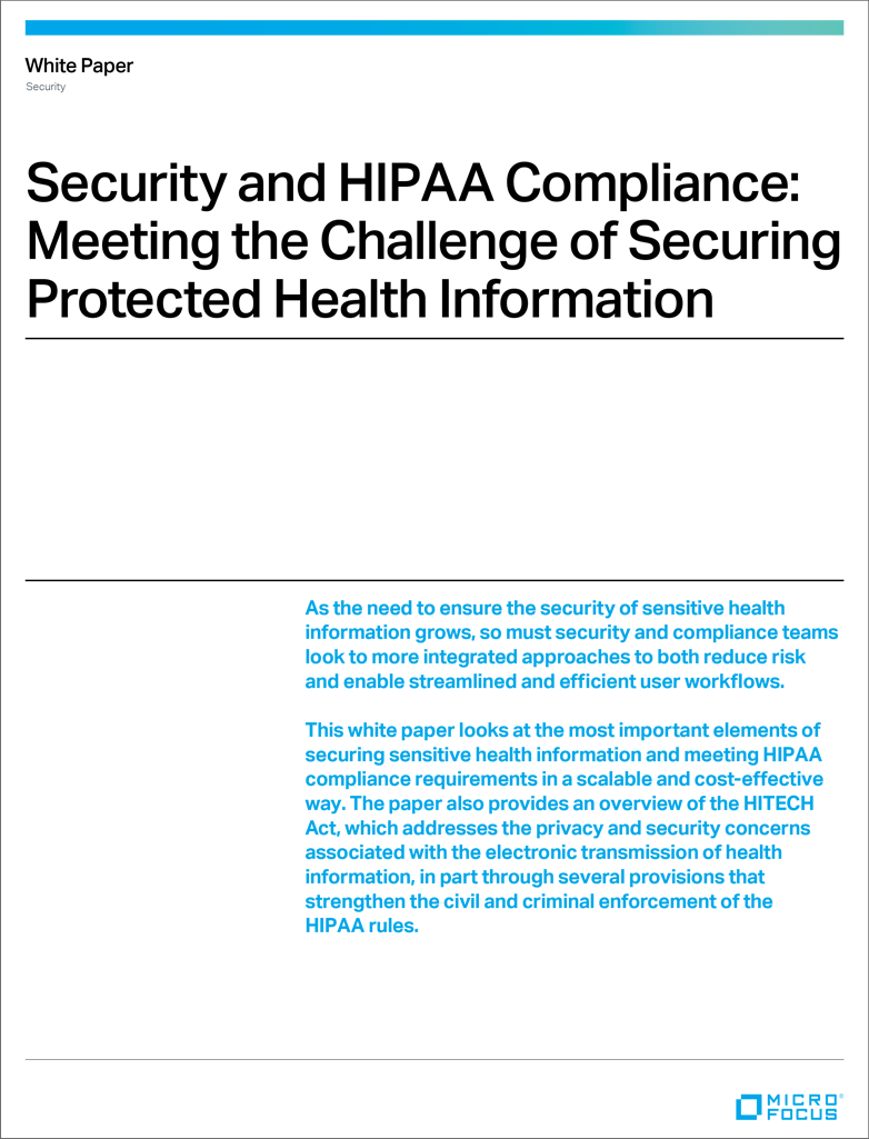 Security and HIPAA Compliance Meeting the Challenge of Securing Protected Health Information preview