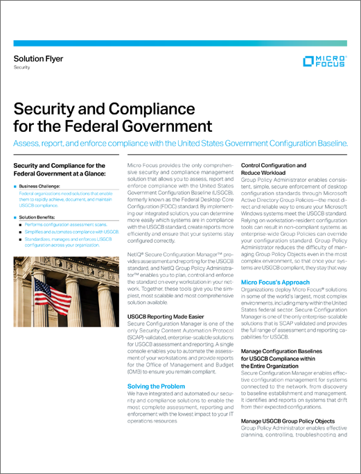 Security and Compliance for the Federal Government preview