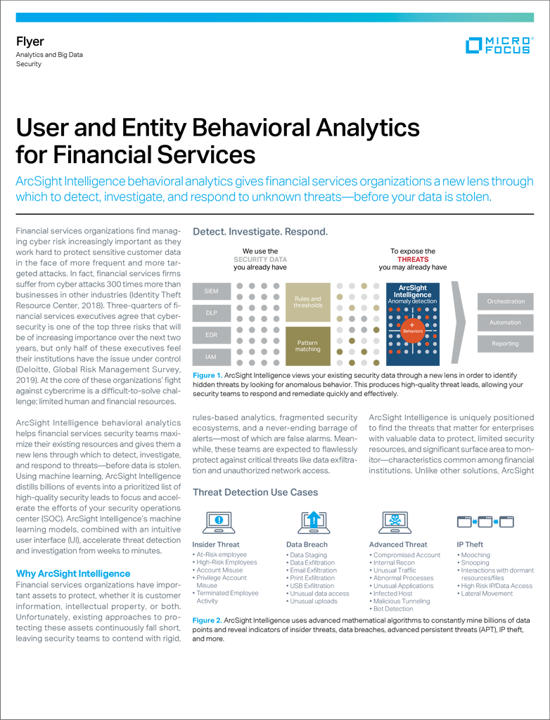 User and Entity Behavioral Analytics for Financial Services preview