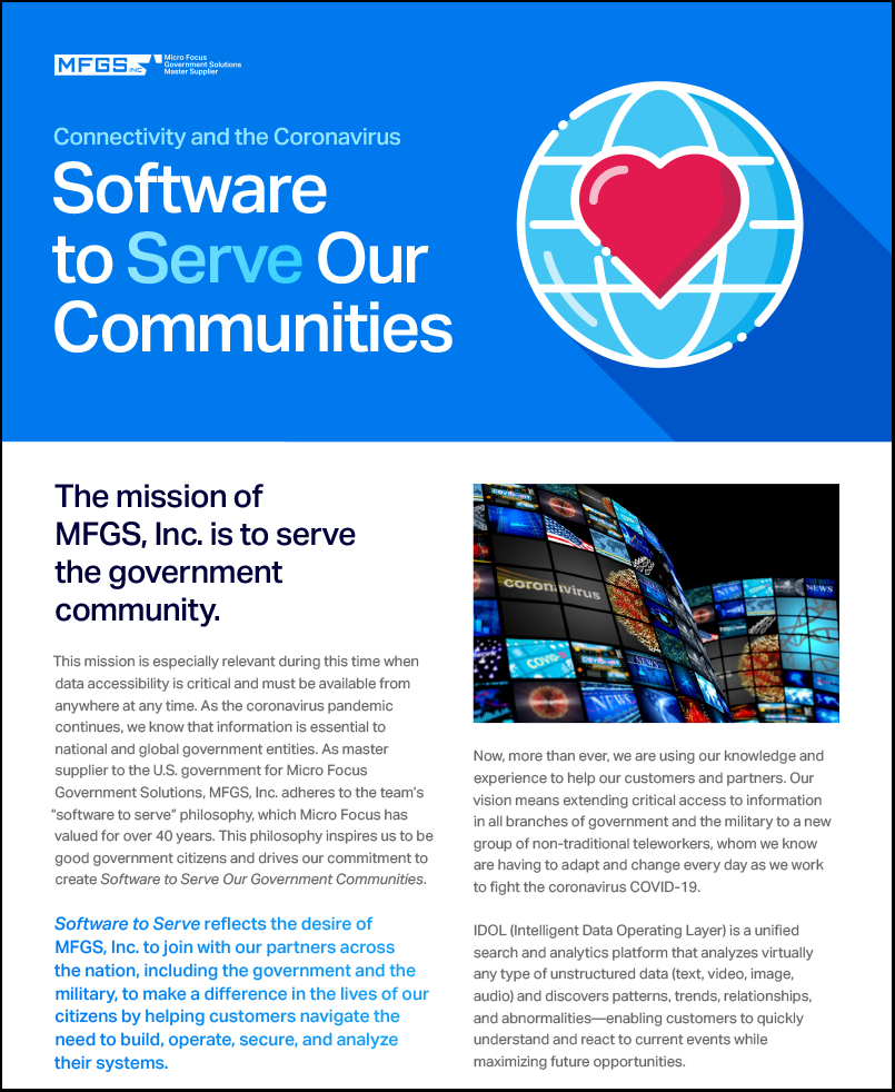 Connectivity to the Coronavirus – Software to Serve our Communities preview