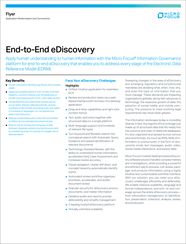 End-to-End eDiscovery preview