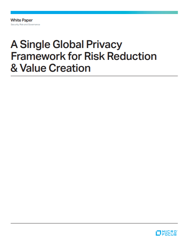 A Single Global Privacy Framework for Risk Reduction and Value Creation preview