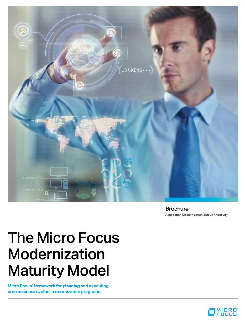 The Micro Focus Modernization Maturity Model preview
