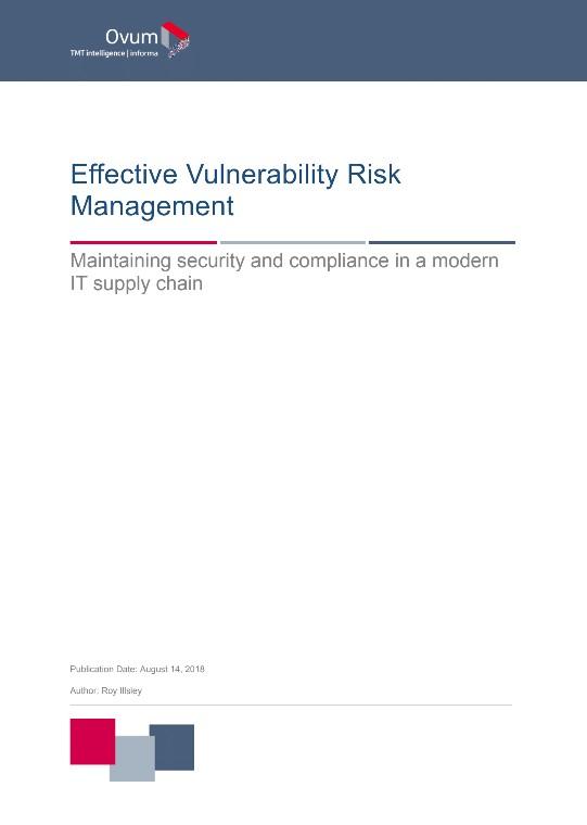 OVUM - Effective Vulnerability Risk Management Analyst Paper preview