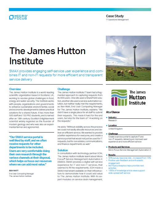 James Hutton Institute Delivers an Improved User Experience and More Efficient Service preview