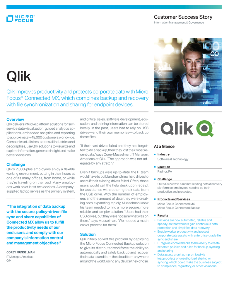 Qlik Improves Productivity Protects Data with Micro Focus preview
