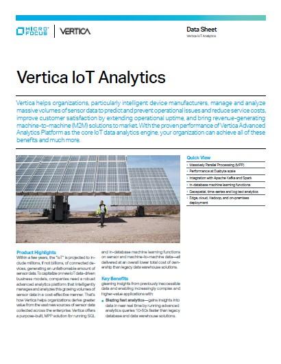 Vertica IoT Analytics preview