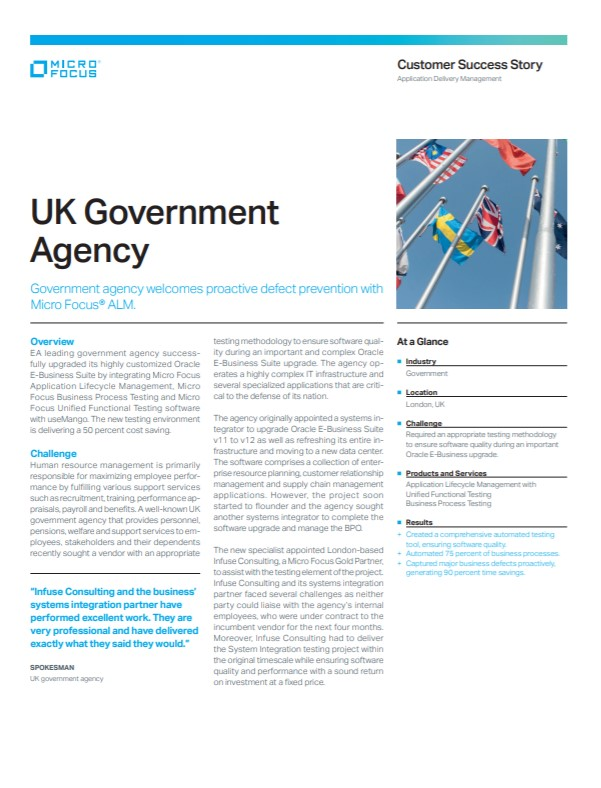 UK Government Agency Welcomes Proactive Defect Prevention with Micro Focus ALM preview