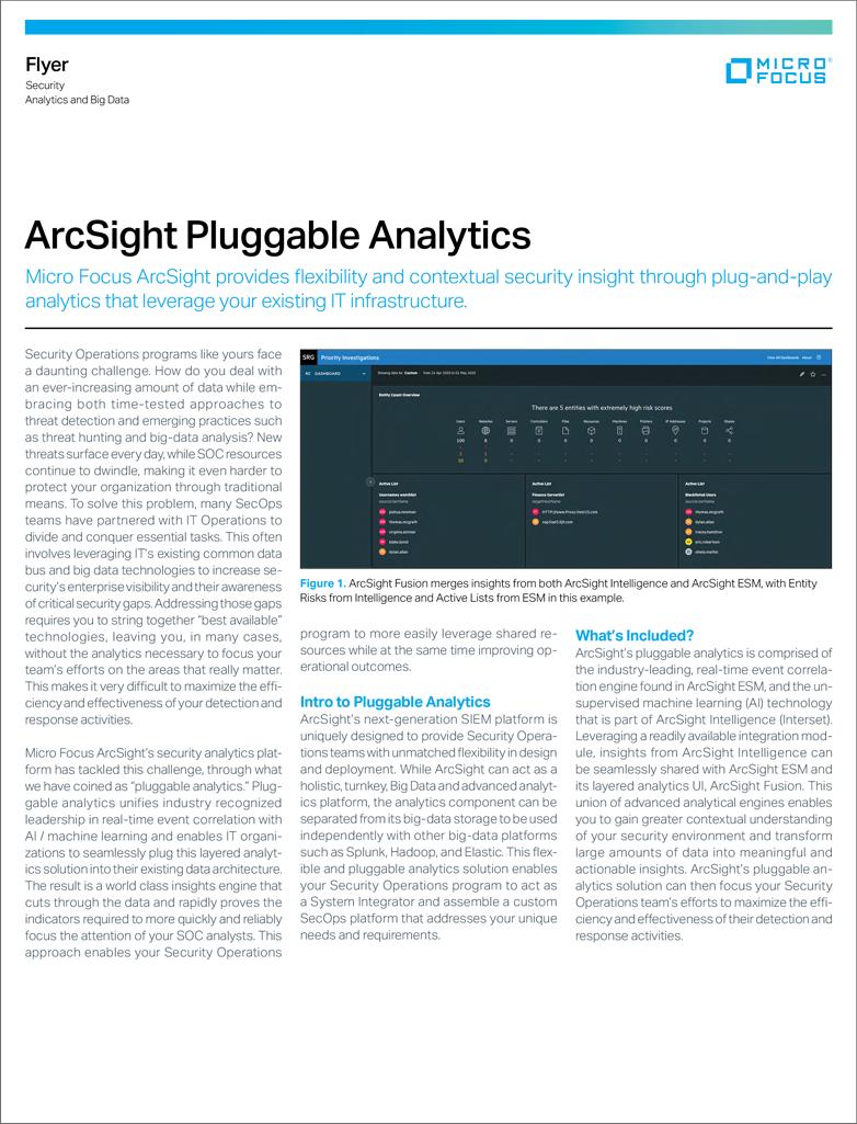 ArcSight Pluggable Analytics preview