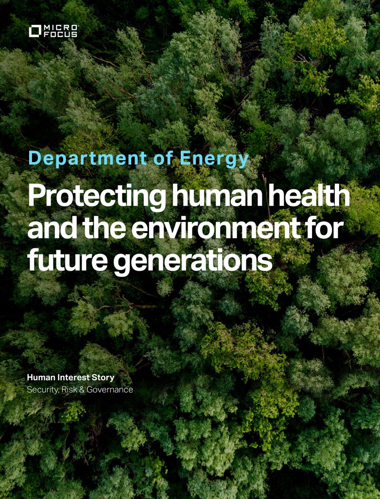 Department of Energy - Protecting Human Health and the environment for Future Generations preview