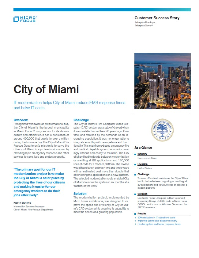IT Modernization Helps City of Miami Reduce EMS Response Times preview