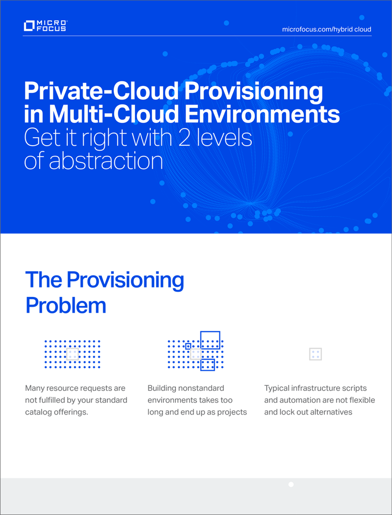 Private-Cloud Provisioning in Multi-Cloud Environments