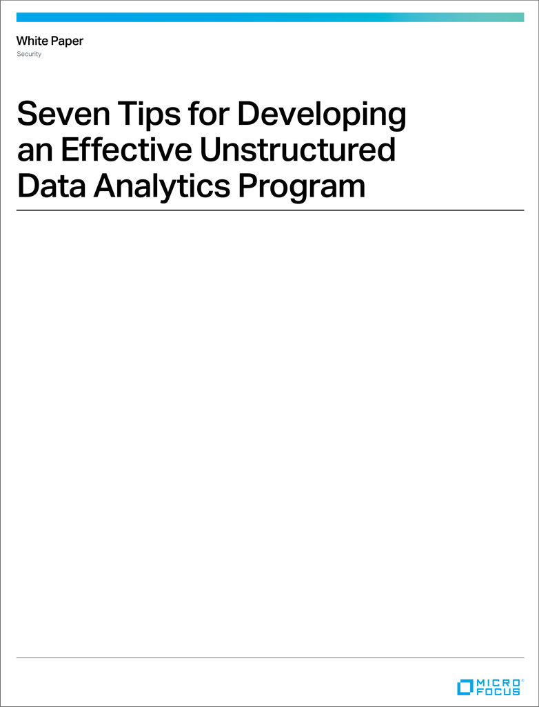 Seven Tips for Developing an Effective Unstructured Data Analytics Program preview