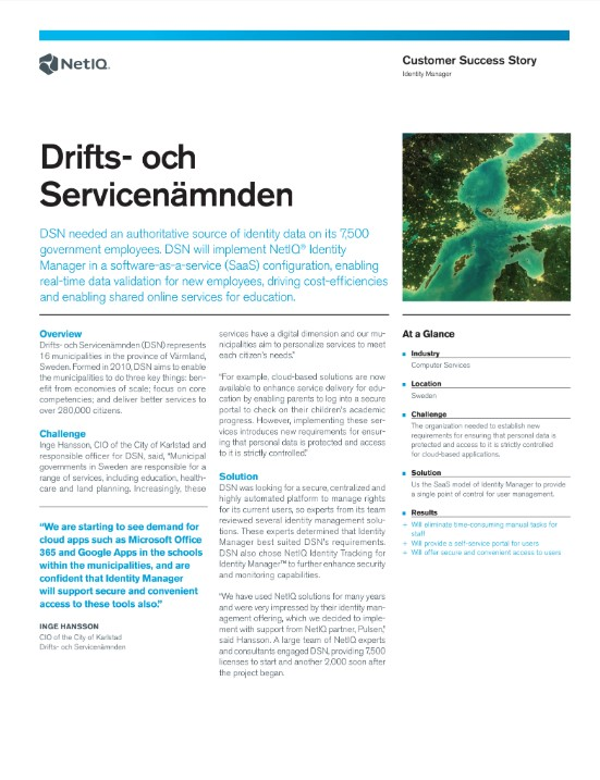 NetIQ Enables Real-Time Data Validation and Cost-Efficiencies for Värmland, Sweden preview