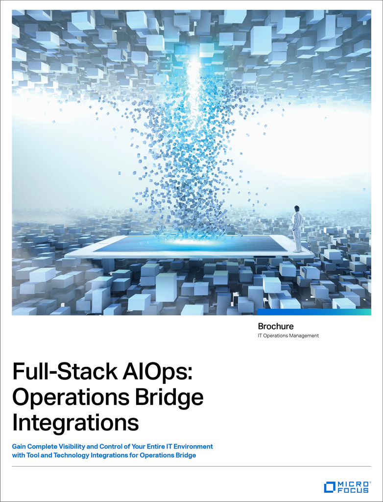 Full Stack AIOps: Operations Bridge Integrations preview