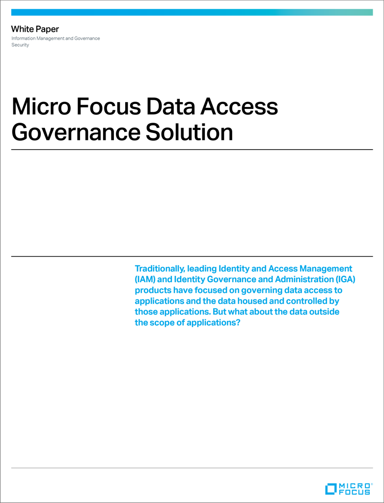 Micro Focus Data Access Governance Solution preview