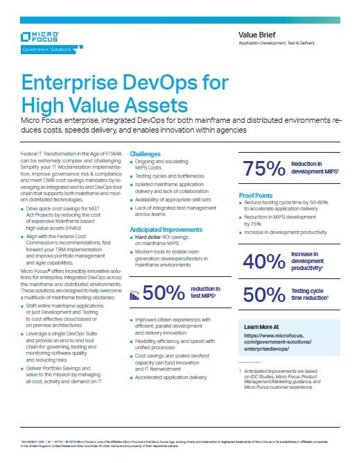 Enterprise DevOps High Value Brief preview