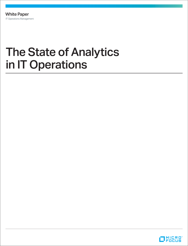 The State of Analytics in IT Operations preview