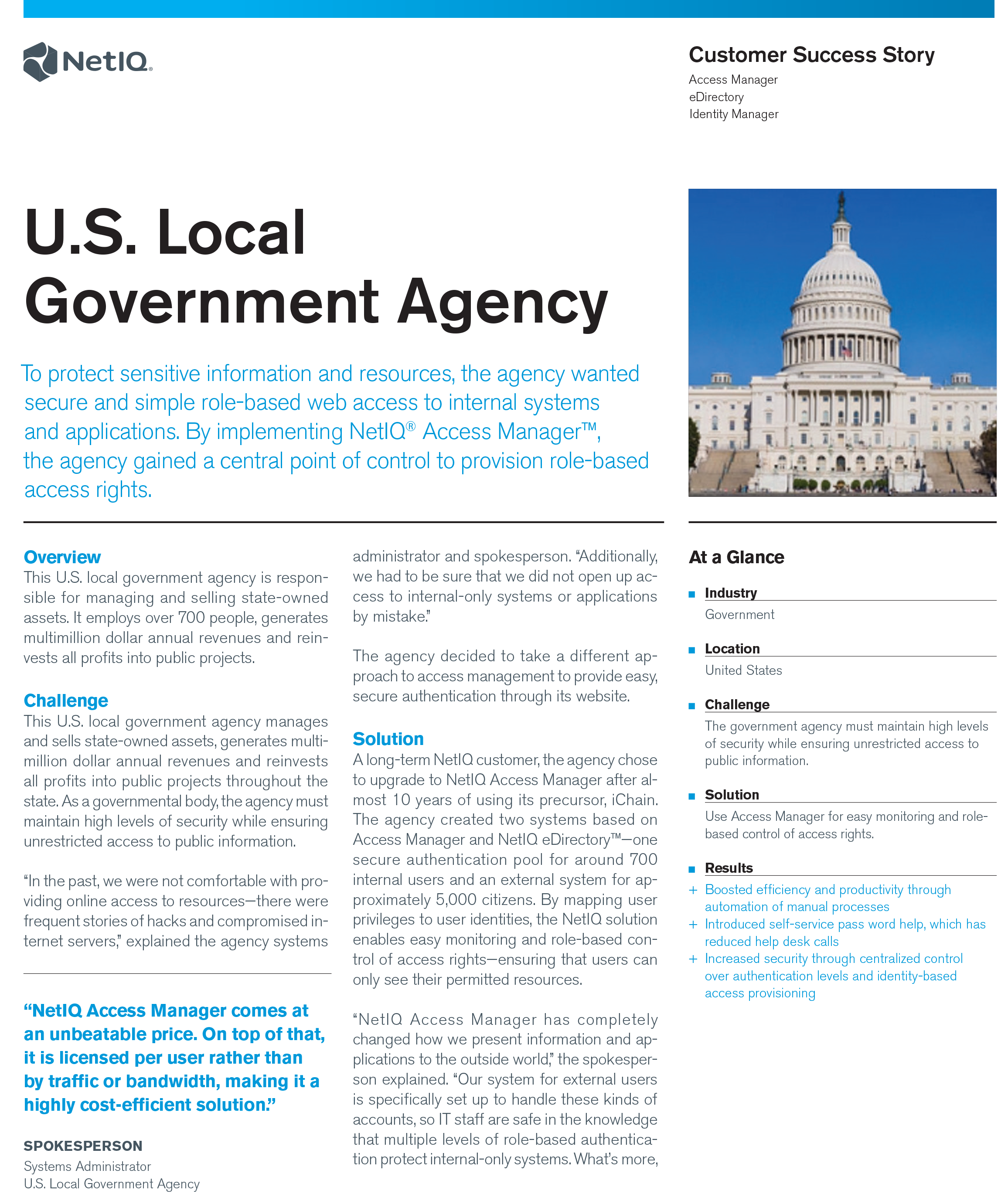 Protecting Sensitive Information for Local Government Agency with NetIQ Access Manager preview