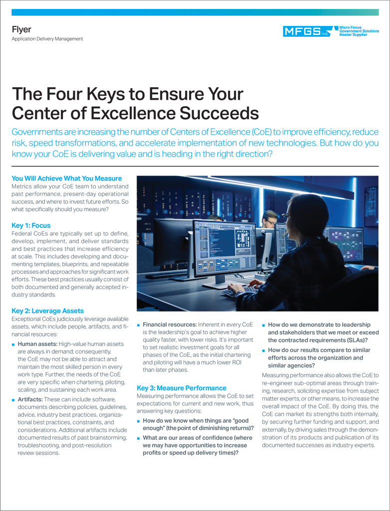 The Four Keys to Ensure Your Center of Excellence Succeeds preview